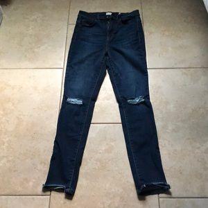 Fashion Nova High waisted dark wash jeans